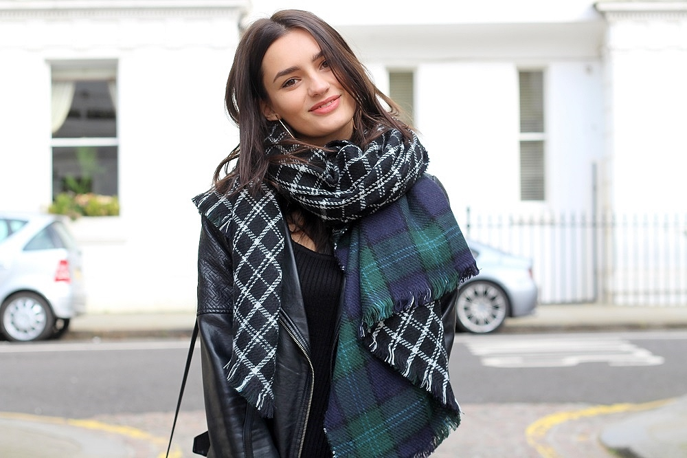 uk blogger peexo reversible scarf