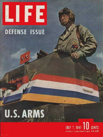 General Patton on the cover of Life magazine, 7 July 1941 worldwartwo.filminspector.com