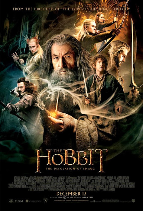 Poster oficial final pentru filmul The Hobbit:The Desolation Of Smaug