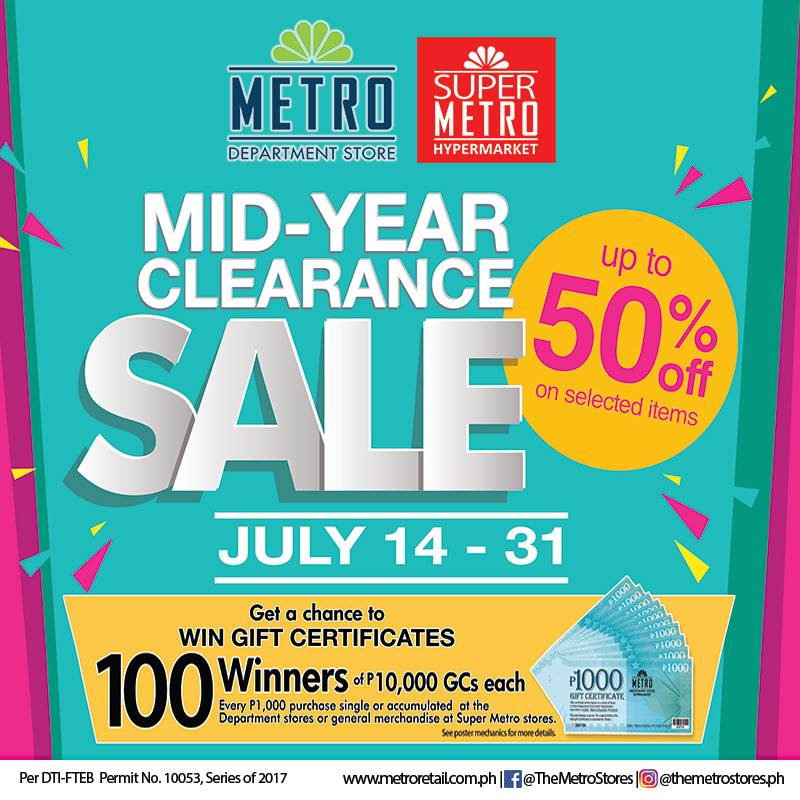 Manila Shopper Metro Stores Midyear Clearance Sale July 2017
