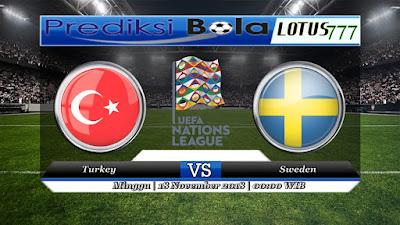 Prediksi pertandingan Turkey Vs Sweden 18 November 2018