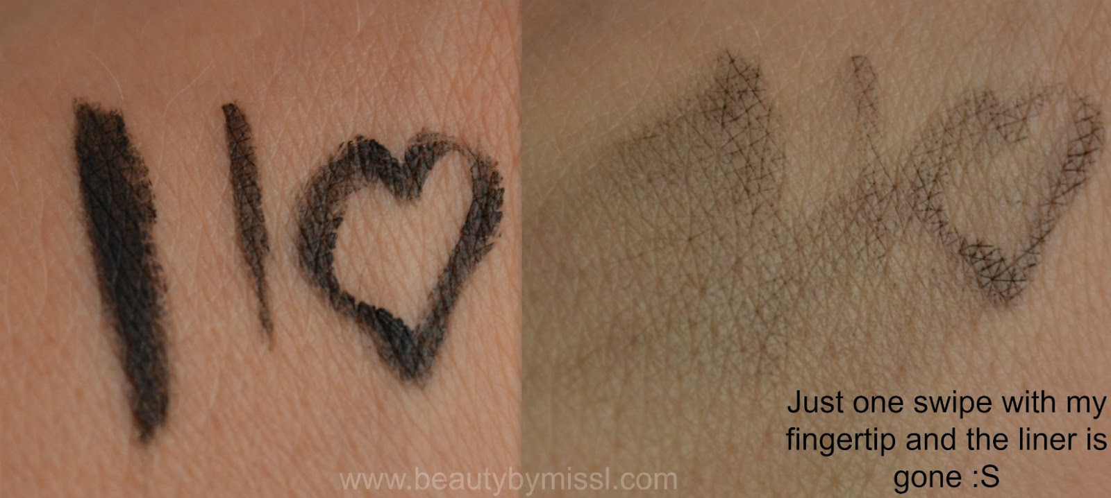 BYS Black Magic Eyeliner swatches