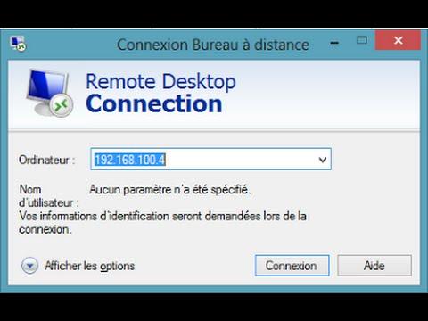 Utilisation du bureau distance pour se connecter un pc windows 10 - Activer connexion bureau a distance windows 7 ...