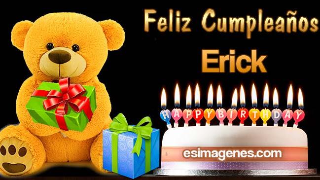 Feliz cumpleaños Erick