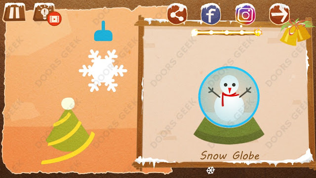 Chigiri: Paper Puzzle Christmas Pack Level 1 (Snow Globe) Solution, Walkthrough, Cheats