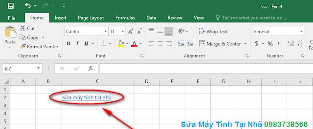 Cách chèn liên kết Hyperlink trong Excel