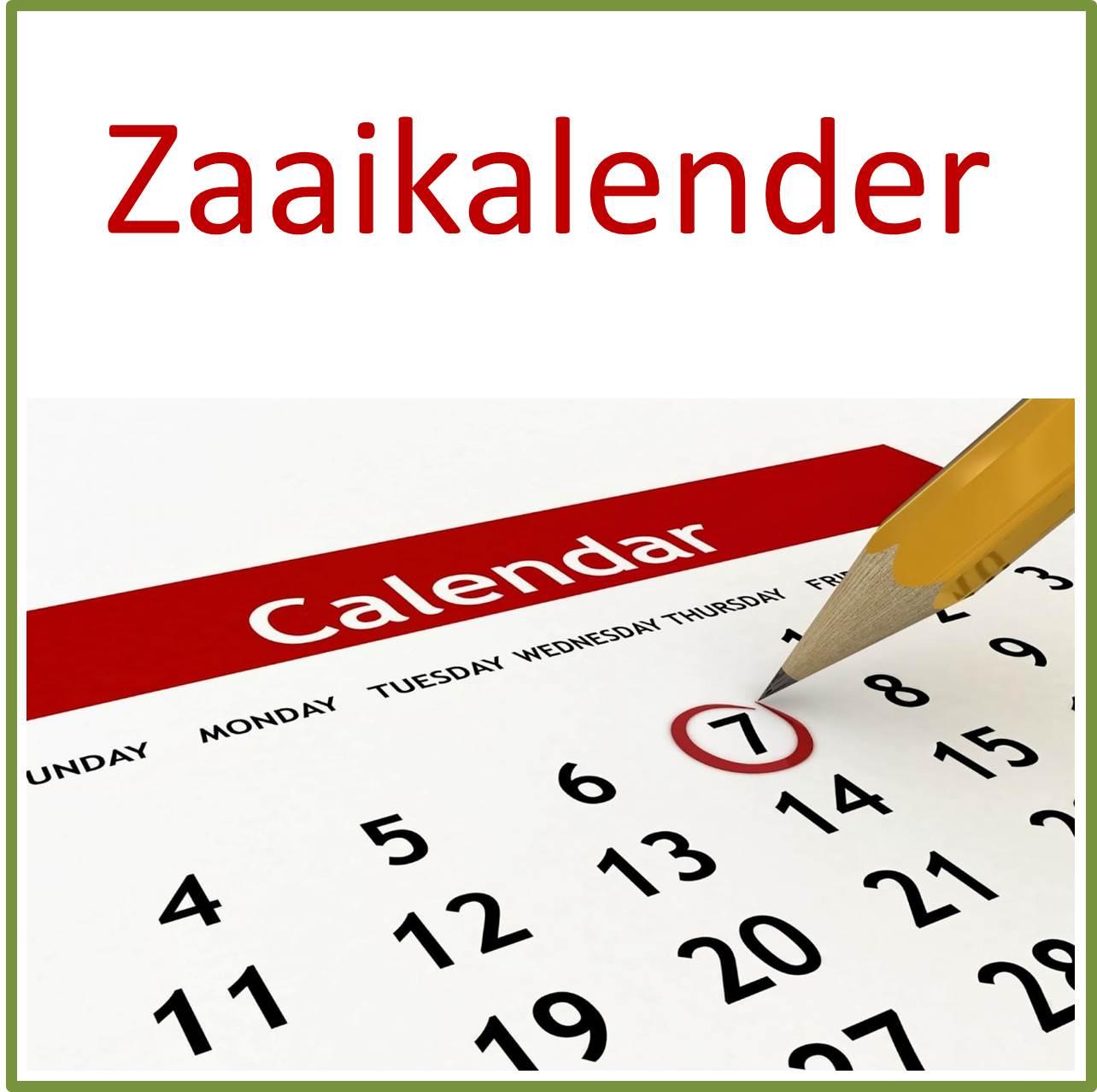 zaaikalender teeltkalender groentekalender