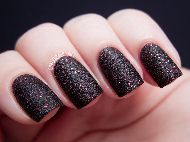 Chalkboard Nails: OPI Stay the Night (Liquid Sand)