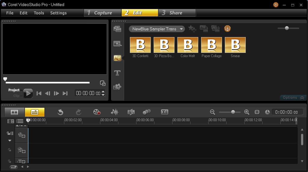 Menambakan Efek Transition Corel Video Studio 1