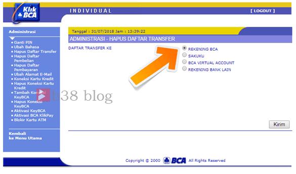 Cara Menghapus Daftar Rekening Klik BCA Terbaru