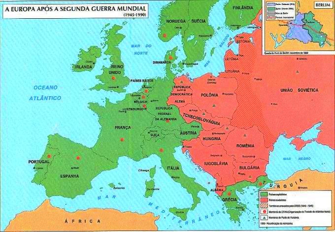 mapa politico da europa apos a segunda guerra mundial Ponto de Mutação: Mapa da Europa após a Segunda Guerra Mundial mapa politico da europa apos a segunda guerra mundial