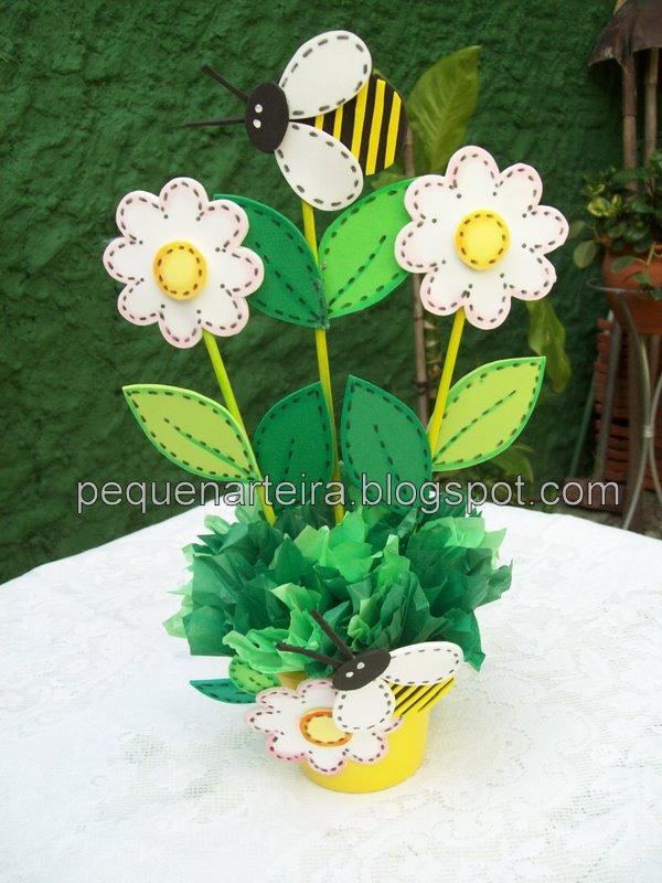 Centro de mesa Abelhinha vaso de flor