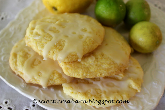 Eclectic Red Barn: Lemon-Lime Cornbread Cookies
