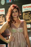 Telugu Actress Aarthi in Deep Neck Backless Golden Gown at IIFA Utsavam Awards 2017 Exclusive 40.JPG
