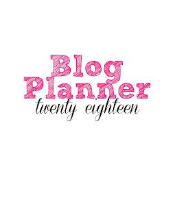 free 2018 blog planner