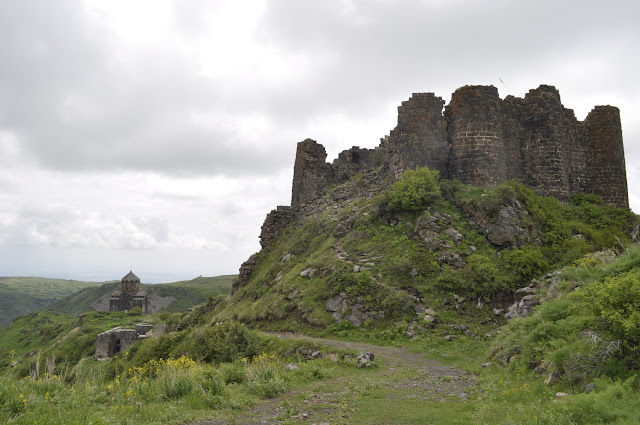 The Amberd Fortress with the church of St. mary behind