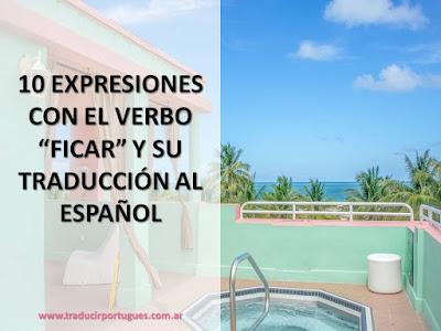 verbo ficar, portugués, traducción, español, quedarse, hospedarse