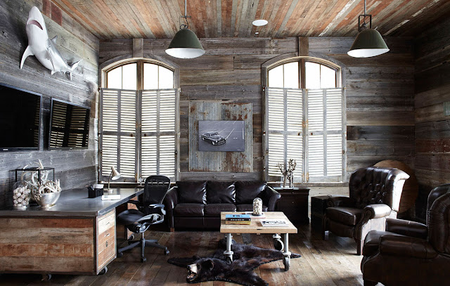 Masculine man cave decor inspiration - found on Hello Lovely Studio