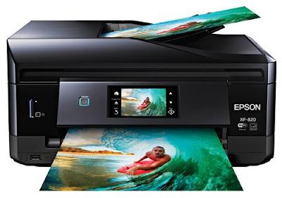 Wireless Color Photo Printer alongside Scanner Epson Expression Premium XP-820 Driver Downloads