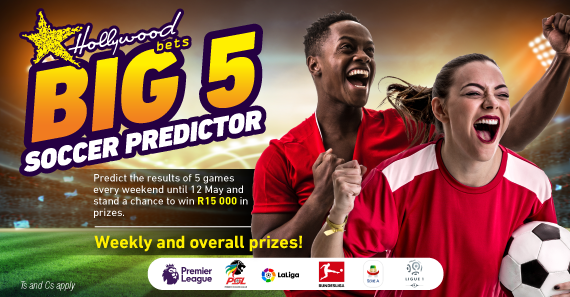 Hollywoodbets Sports Blog: Big 5 Soccer Predictor Game: Stand a