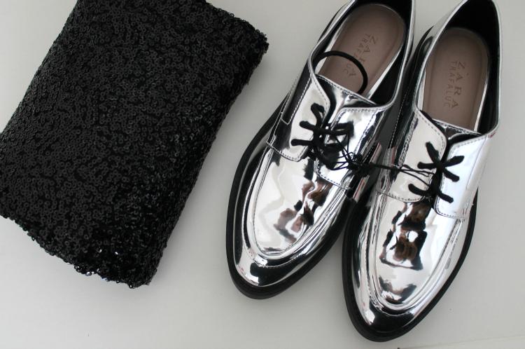 zapatos plata zara