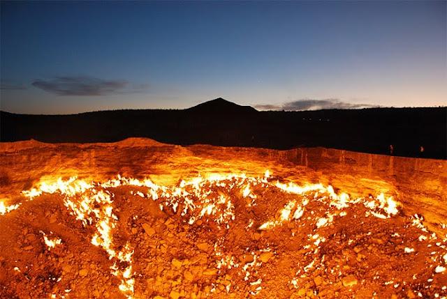 9 Gambar & Video : Darvaza Gas Crater Lubang Neraka Di Turkmenistan. Peringatan Untuk Orang Islam Mengenai Neraka. Kongsikan...