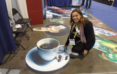 attractive 3D flooring graphics for cafes and restaurants at malls