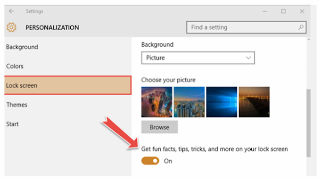 How to turn off Ads That Often Appear On The  Windows 10 Lock Screen