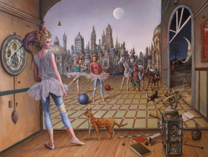 14-The-Sorcerer-Tomek-Sętowski-Oil-Paintings-Magical-Realism-meets-Surrealism-www-designstack-co