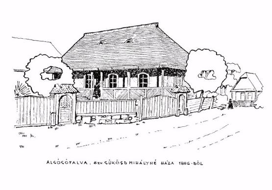 Alsósófalva özv. Sükösd Mihályné háza 1886-ból