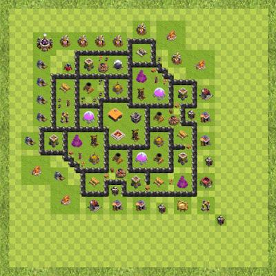 War Base Town Hall Level 8 By Zain Azizulhaq (Base zain TH 8 Layout)