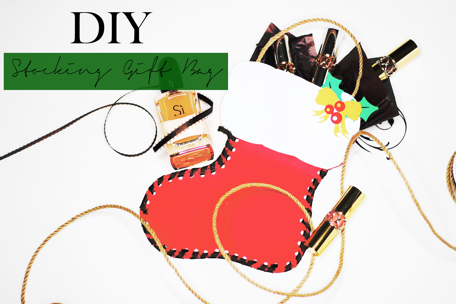 DIY Stocking Gift Bag  || #blogmas Day 5