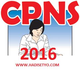 Pengumuman Formasi CPNS 2016