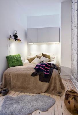 desain kamar tidur sempit terbaru
