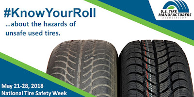 US Tire Manufacturers Association #KnowYourRoll awareness banner