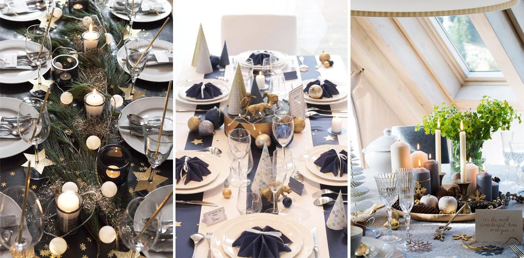 como decorar mesa de noche vieja estilo elegante glam fin de año fácil y lowcost