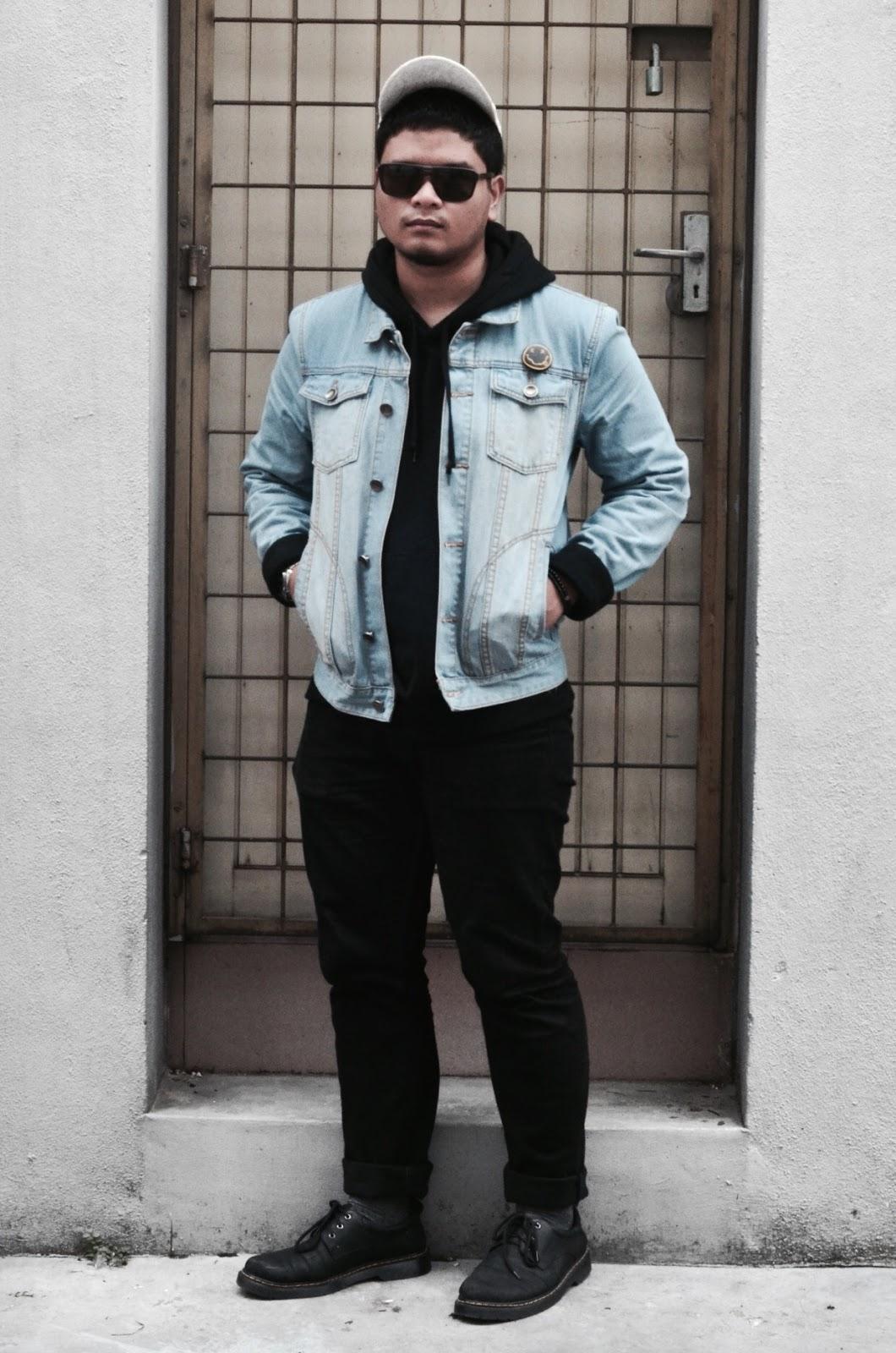 White Cap COTTON ON // Sunglasses DIOR HOMME // Hoodie UNIQLO // Denim  Jacket SEED // Watch SEIKO // Rings MAKKAH // Jeans H&M // Socks FOREVER21  // Shoes ... - Of Denim & Hoodie Blankologie