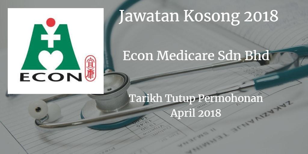 Jawatan Kosong ECON MEDICARE CENTRE SDN.BHD April 2018