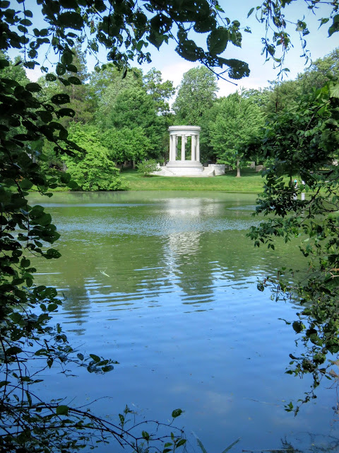 Gazebo on the Lake at Mount Auburn Cemetery outside of Boston