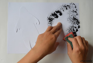 malowanie ducha gąbką