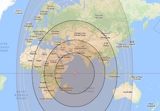 Maps Satellite Intelsat 33e 60.0°E