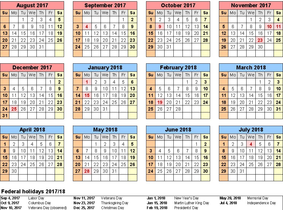 School Calendar  Templates