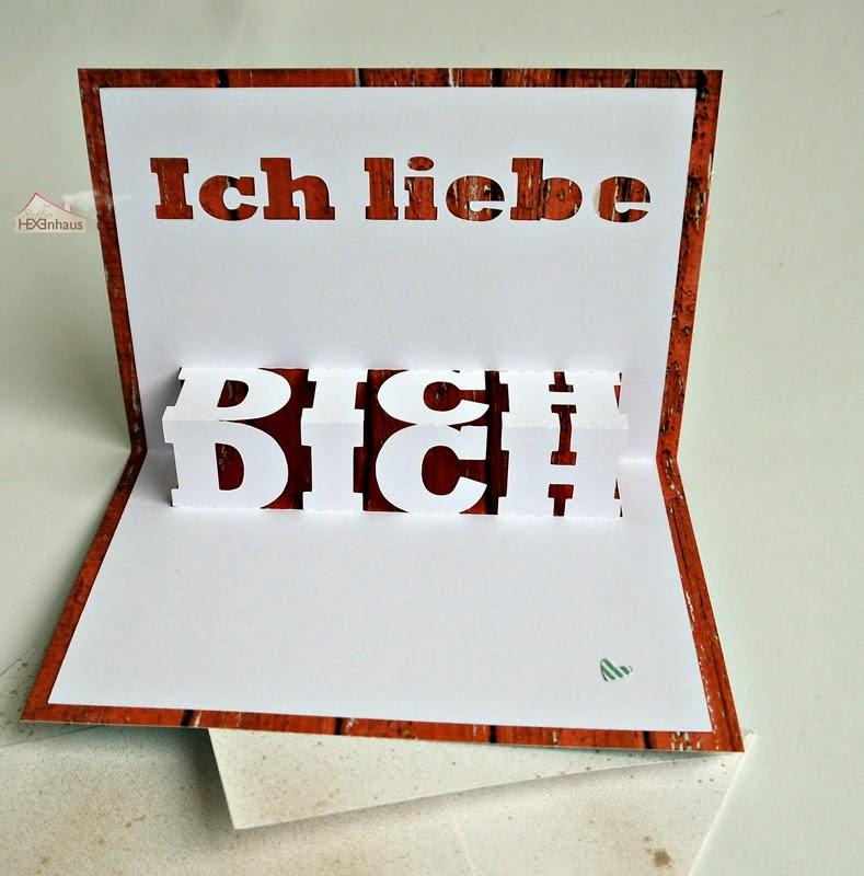 steffies hexenhaus pop up karte zum valentinstag. Black Bedroom Furniture Sets. Home Design Ideas