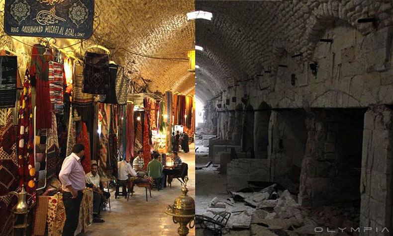 Alepo: antes y después de la guerra