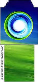 Bolsita de Té para imprimir gratis de Azul y Verde.