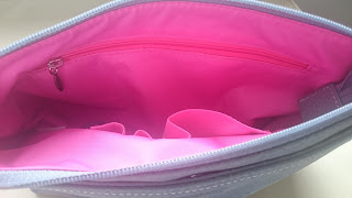 Mia Tui Megan Handbag Pink Interior mamiskilts.co.uk