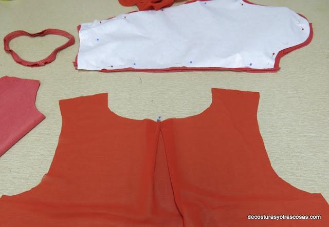 georgette combinado con punto jersey
