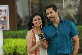 Keerthy Suresh with Vikram in Saamy Square