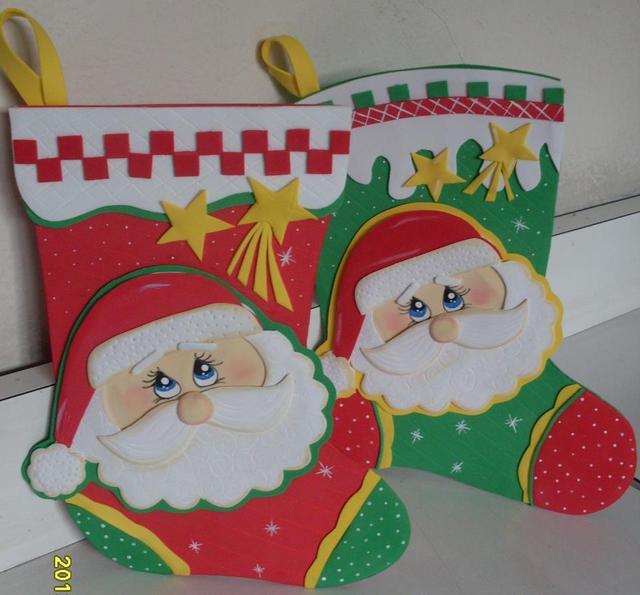 Patrones Dibujos De Navidad En Foami.Manualidades En Foami De Navidad Con Patrones Imagui