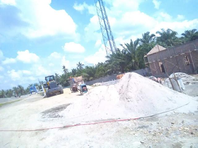 Lokasi pabrik aspal di Air Batu Asahan.